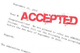Chapter 2: The First Acceptances!